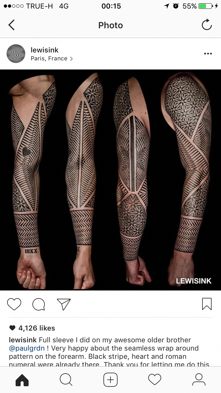 Gorgeous Tattoo Lewisink Tattoossamoantribal Samoantattoos Geometric Sleeve Tattoo Cyberpunk Tattoo Tattoos