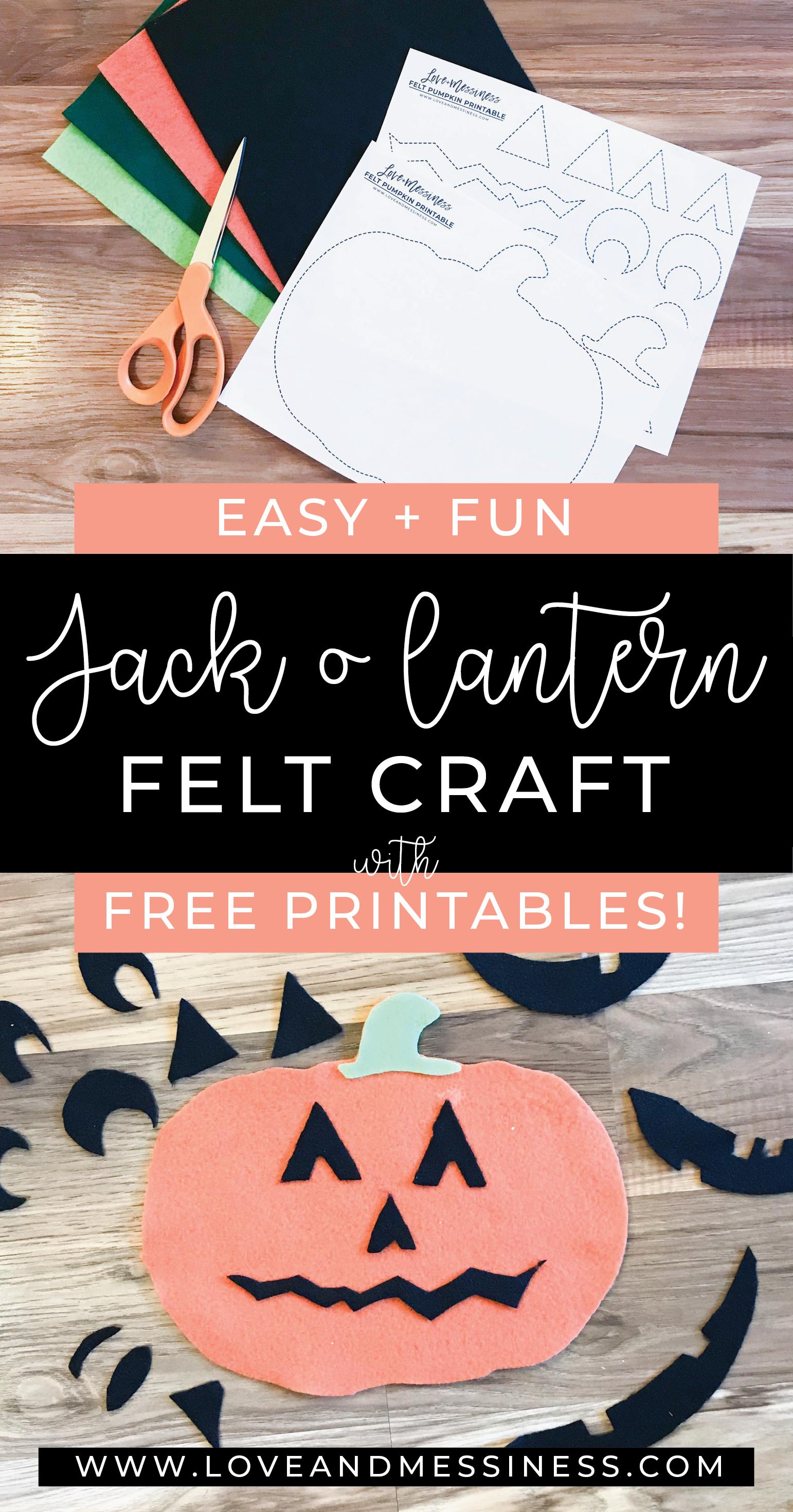Easy Amp Fun Felt Jack O Lantern Craft With Free Patterns