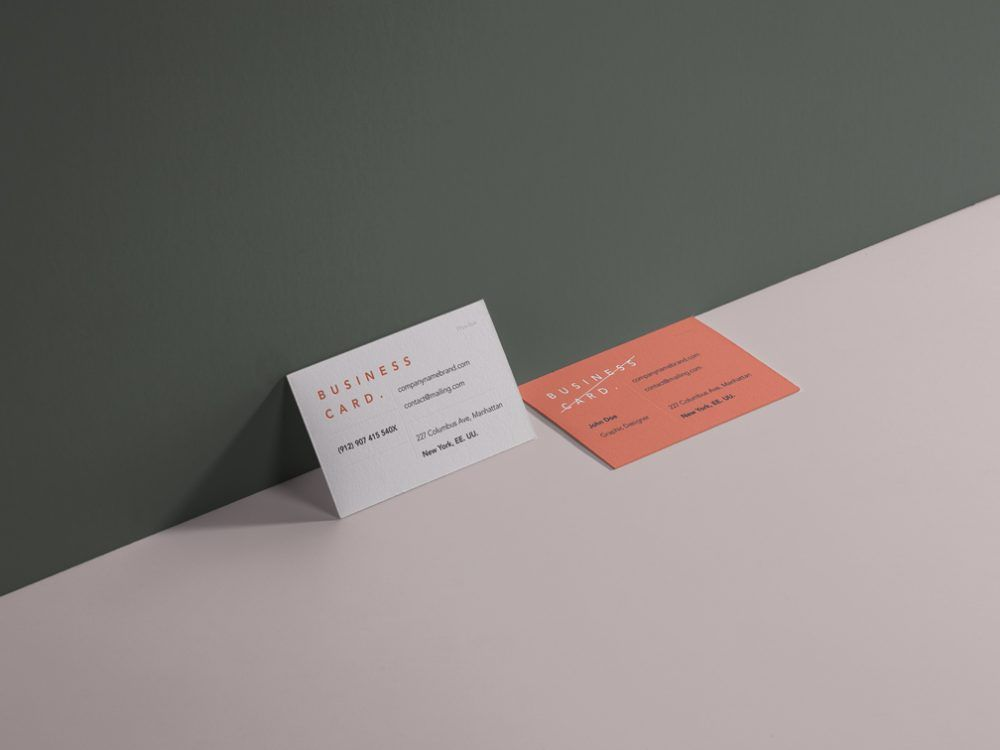 Business Cards Showcase Mockup Mockupworld Free Business Card Mockup Business Card Mock Up Business Card Branding