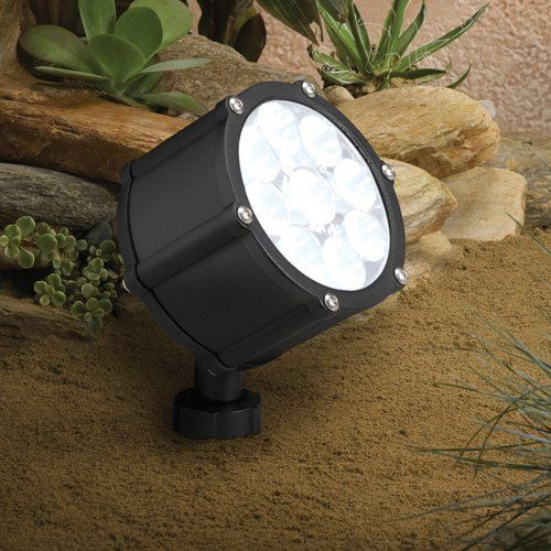 Kichler 12 4 W 60 Wide Flood Led Accent Light Low Voltage Lighting From The Landscape Led Collection Textured Black Modern Landscape Lighting Led Flood Lights Landscape Lighting