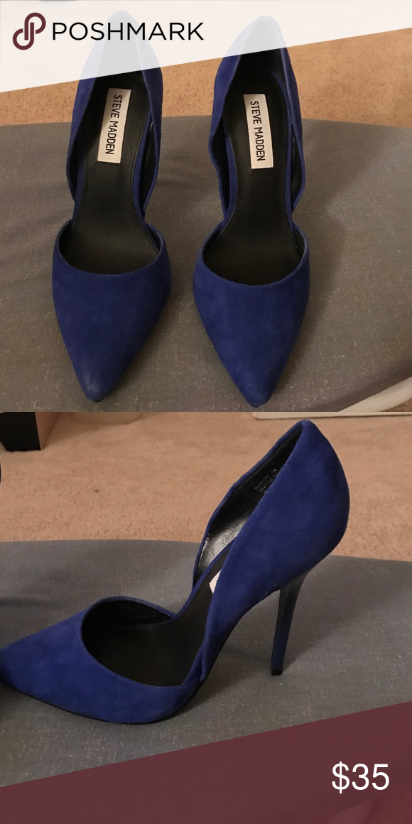 018807d3b4 Royal blue pumps Beautiful royal blue pumps. Only worn for 10 minutes!  Steve Madden Shoes Heels