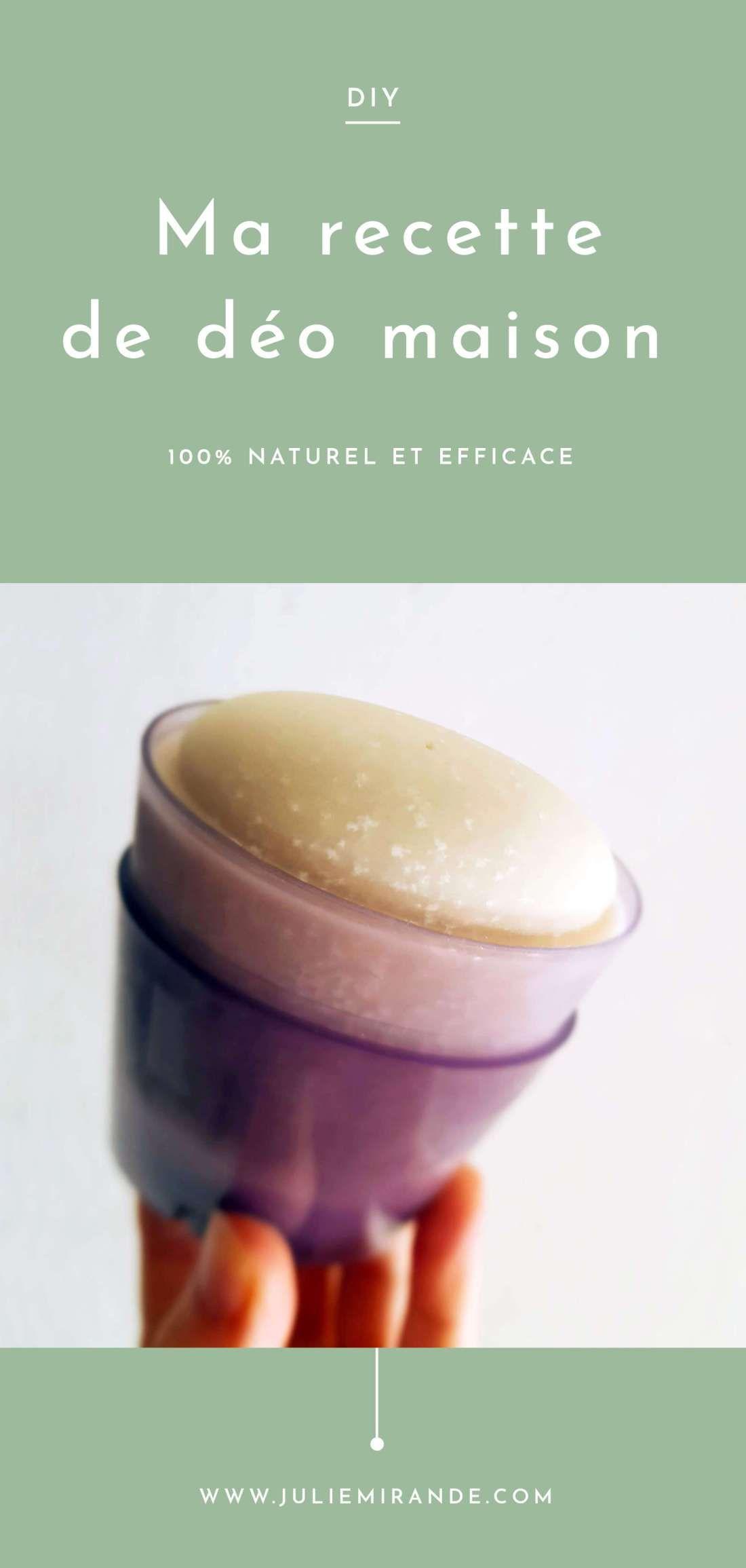 Recette de déodorant maison et naturel