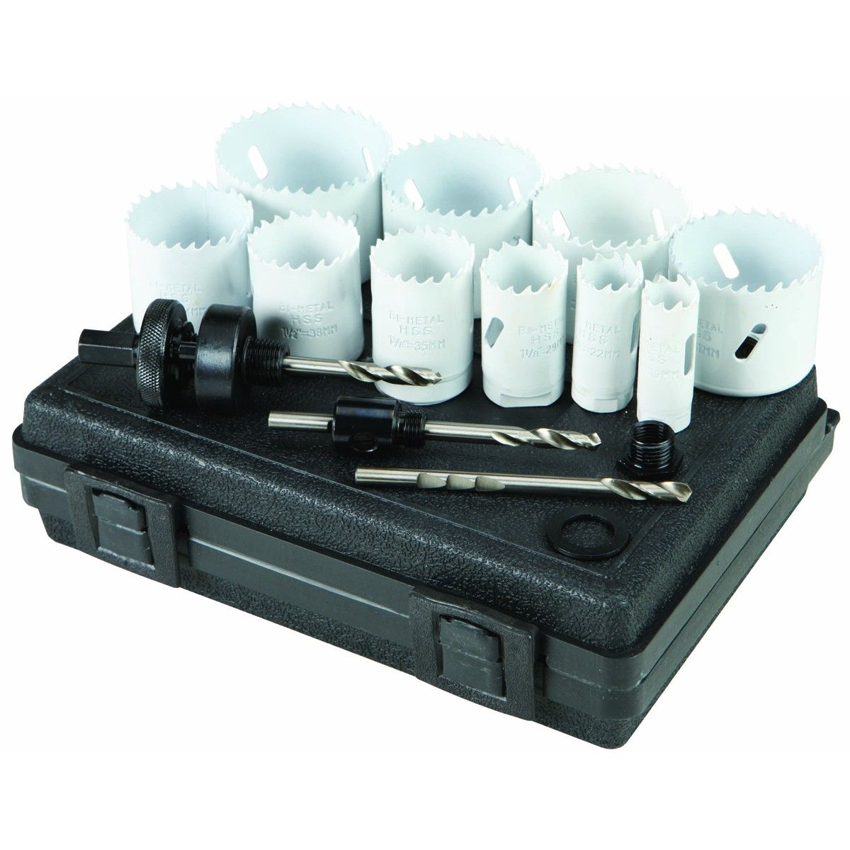 3 4 In 2 1 2 In Bi Metal Hole Saw Assorted Set 14 Pc Hole Saw