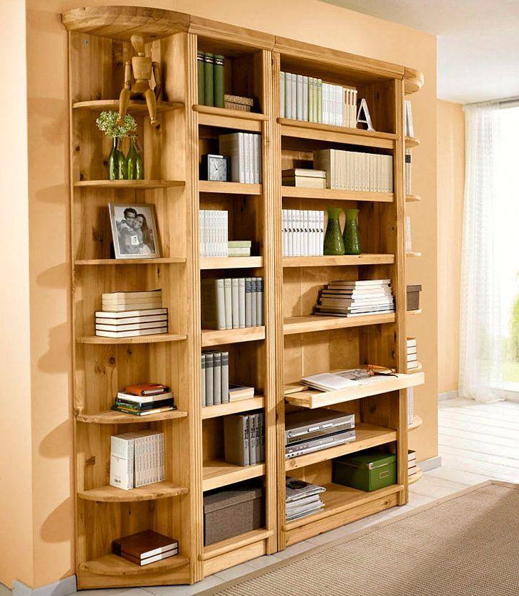 Home affaire Bücherregal beige, für Tiefe 29 cm, Höhe 185cm - regale für wohnzimmer