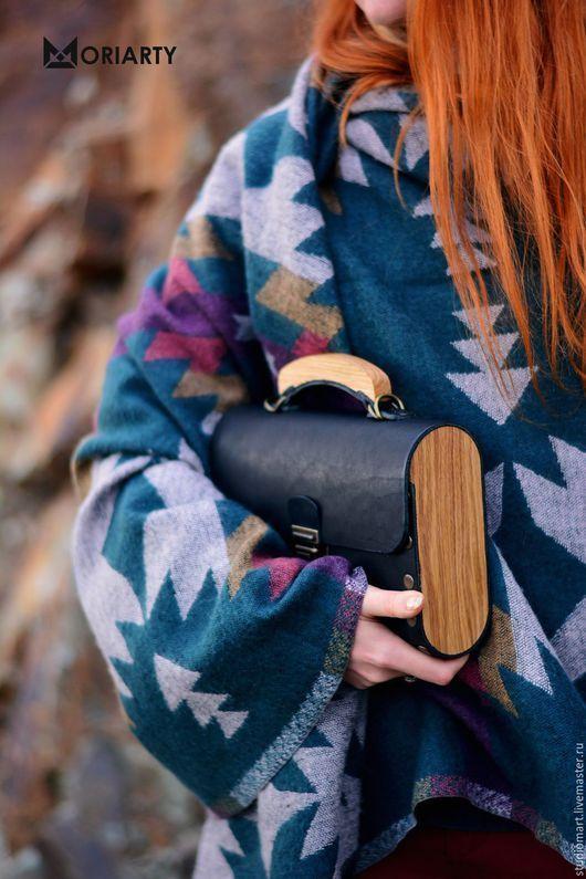 7cf80348b424 Сумки и аксессуары ручной работы. Ярмарка Мастеров - ручная работа. Купить  Женская сумка из кожи и дерева Big Black Bag. Handmade.