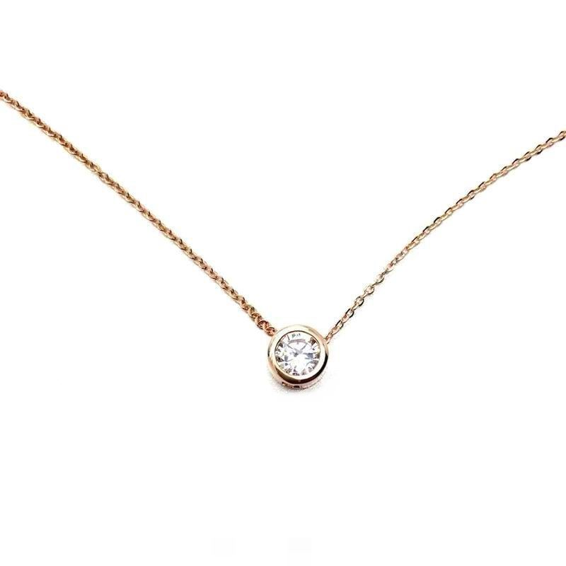 Simple gold plated zircon short necklace women necklaces pendants ...