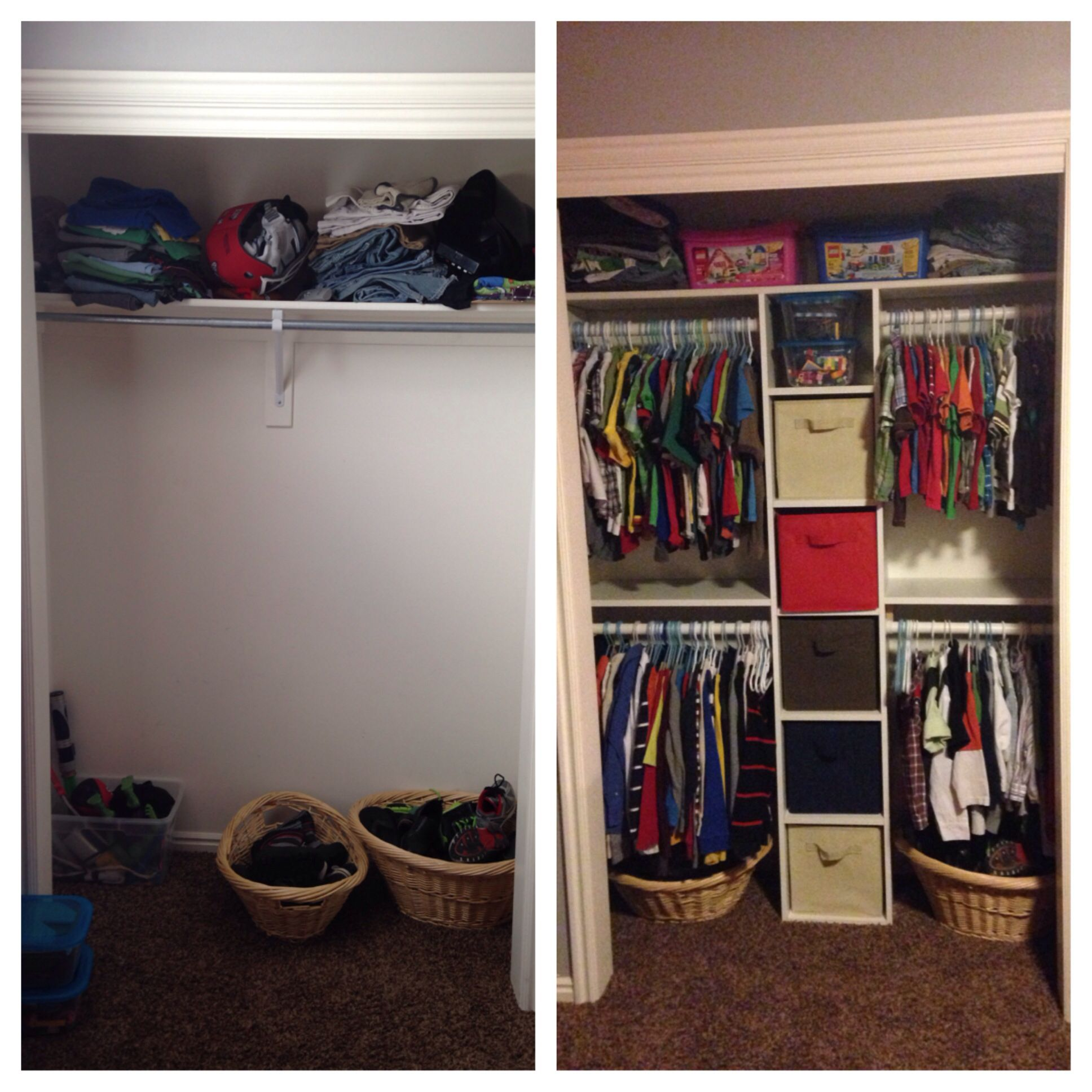 Room For Two Shared Bedroom Ideas: Boys Closet, Brothers Room, Closet