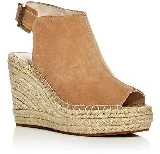 Kenneth Cole Olivia Suede Espadrille Wedge Platform Sandals