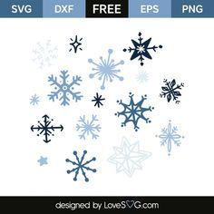 Download Snowflakes (With images) | Christmas svg files, Cricut ...