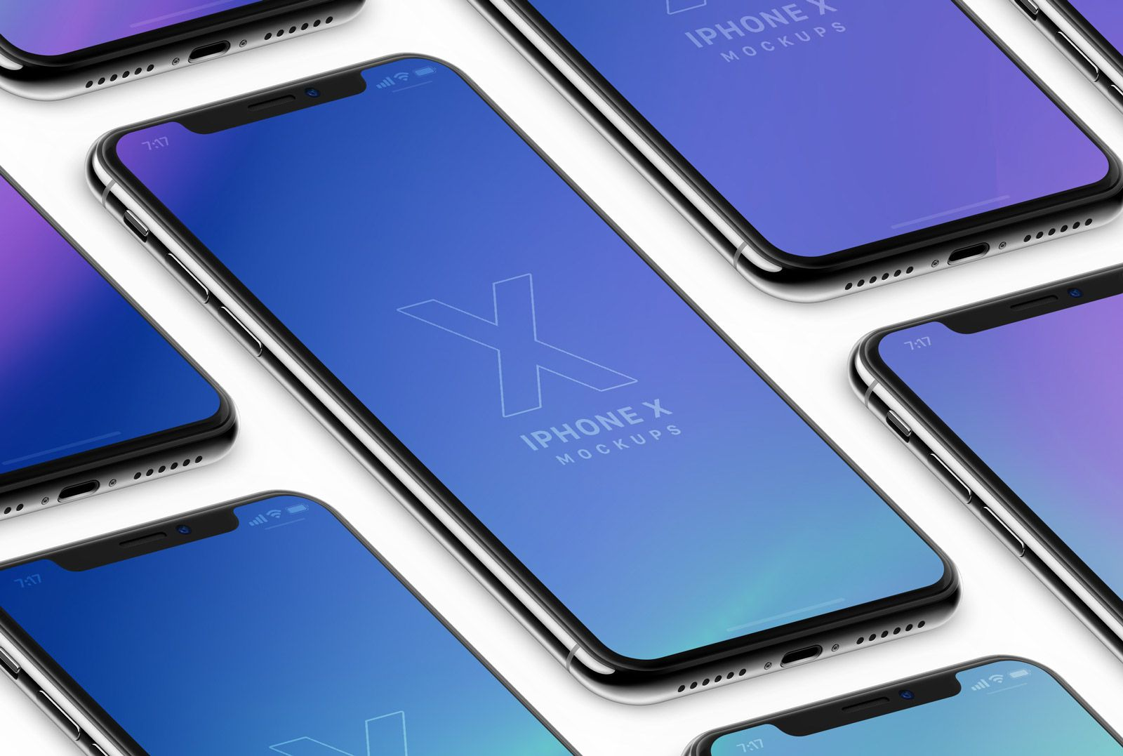 Free Isometric Clay Realistic Iphone X Psd Mockups 3 Mockup Psd Isometric Mockup