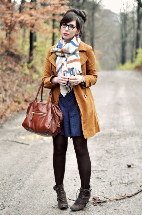 87e6f7bc953 Outfit Details  trench - Old Navy scarf - c o Kelly Wearstler romper -  thrifted tights - foot traffic Seychelles Romance Boots - c o Seychelles  Foley + ...