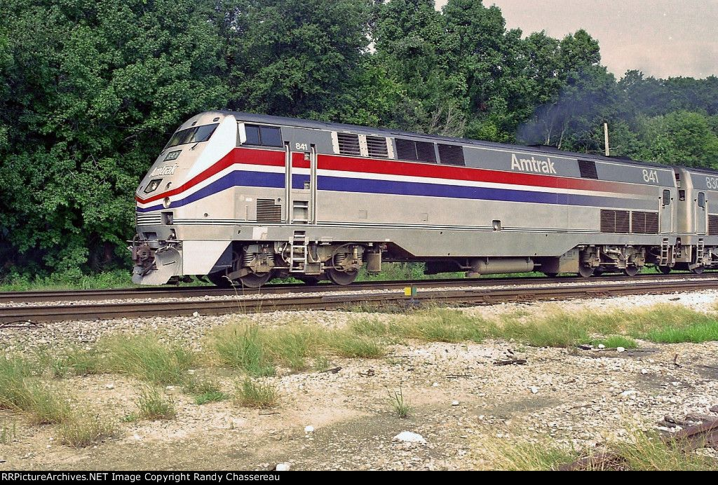 Amtrak 841 leads the Auto Train at Sanford, Fl. Photo by