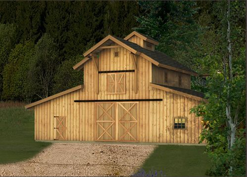 Barn Kit Render Example4 For Dream Acreage Barn House Kits Barn House Barn Kits