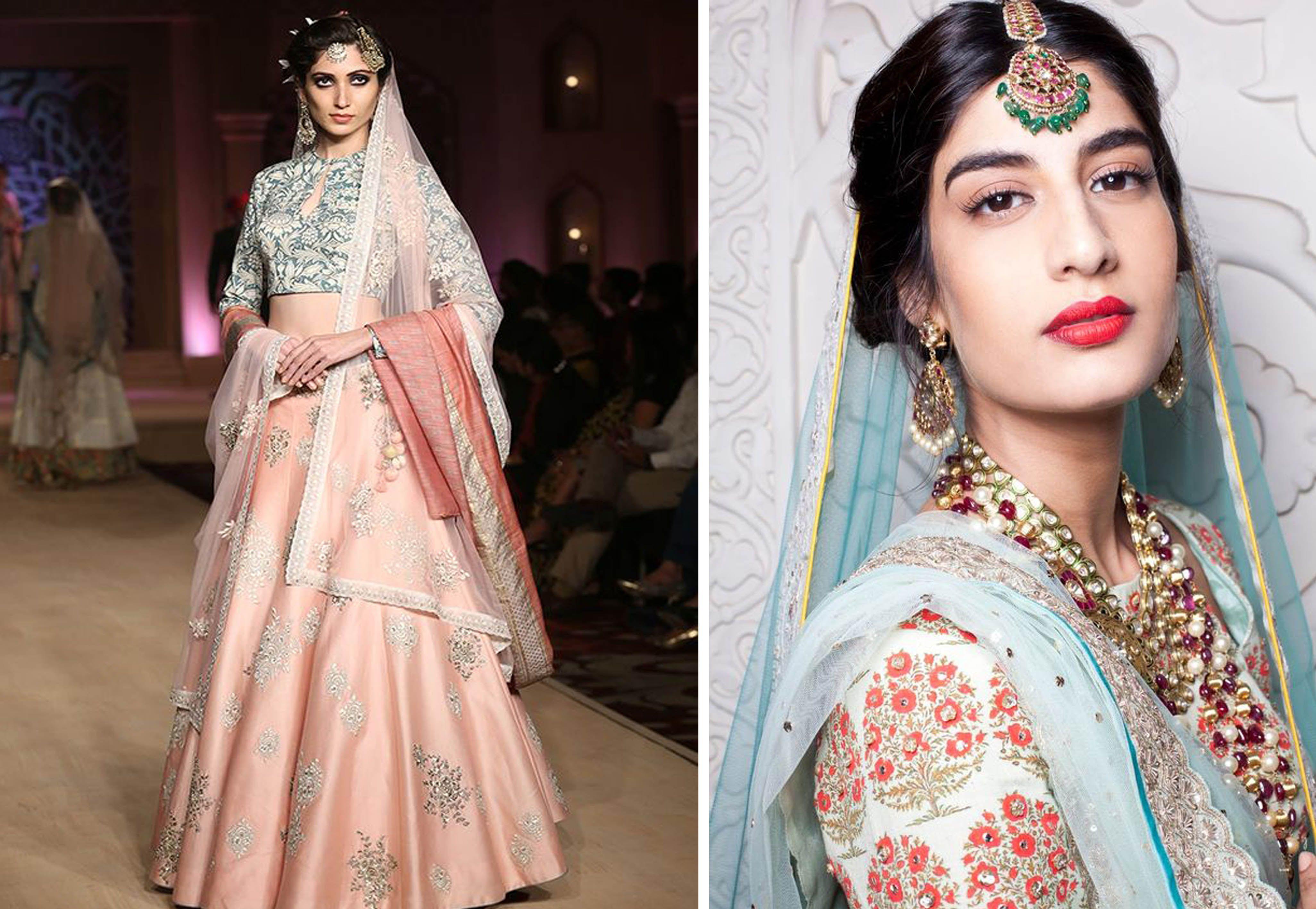 Modern Day Bridal Lehenga Choli Designs By Bollywood Fashion Designer Anju Modi Fashion Bollywood Fashion Indian Fashion