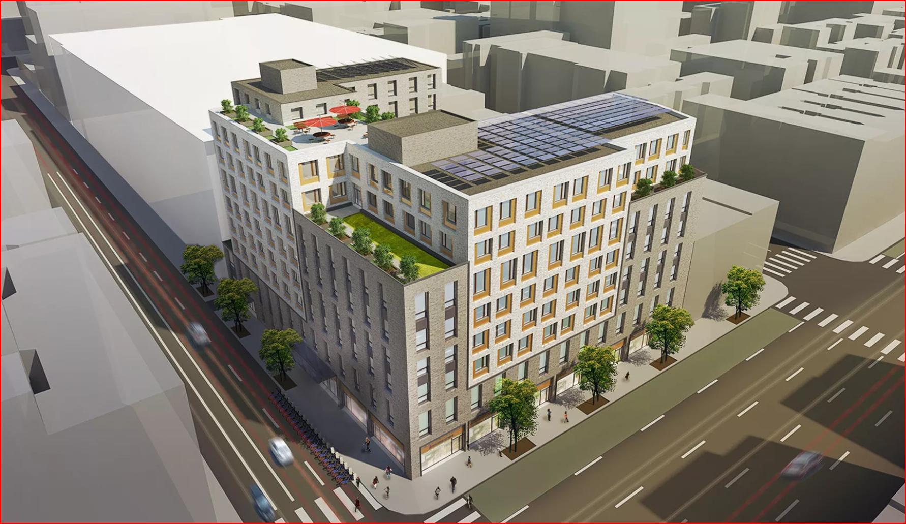 Sendero Verde A 100 Percent Affordable Apartment Development In East Harlem In New York Building Exterior Affordable Apartments Building Design