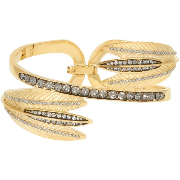 Henri Bendel Romantic Deco Wrap Cuff (£155) ❤ liked on Polyvore featuring jewelry, bracelets, gold, deco jewelry, art deco inspired jewelry, wrap jewelry, art deco jewellery and henri bendel
