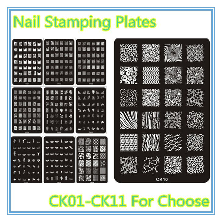 Nail Stamping Plates Stamper Konad Nail Plate 3Pcs Stamp Lmage Plate ...