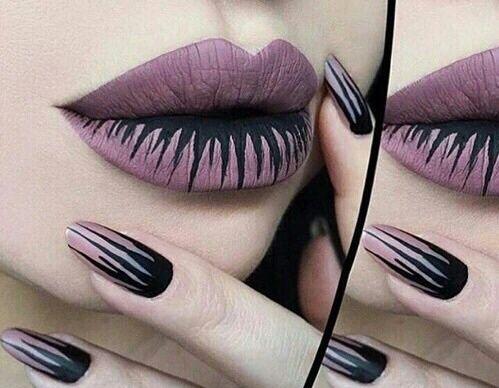 Imagen de nails, lips, and Halloween