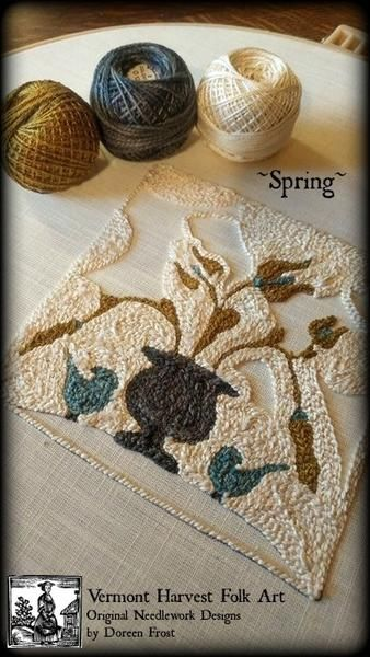 Original Needlework Creations by Doreen Frost. Punch Needle Embroidery, Rug Punching & Hooking Patterns and supplies. Finished Offerings, Classes & Workshops #frostings