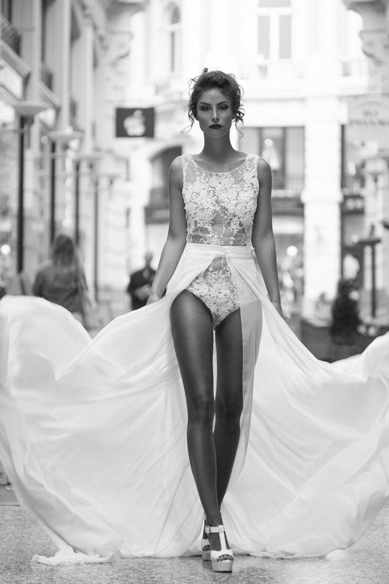 EMANUEL HENDRIK | Body: Shine - Schleppe: Nina | Hochzeitskleid ...