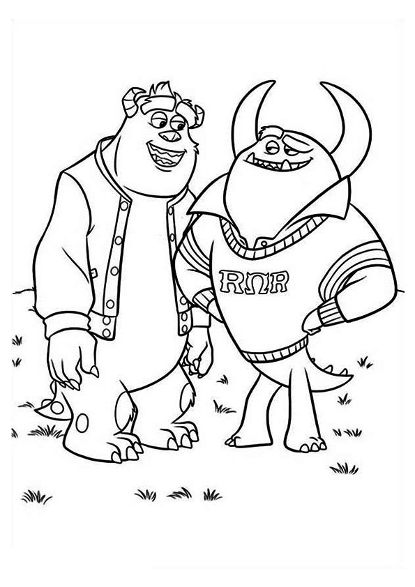 Click Share This Story On Facebook Monster Coloring Pages Monster University Cool Coloring Pages