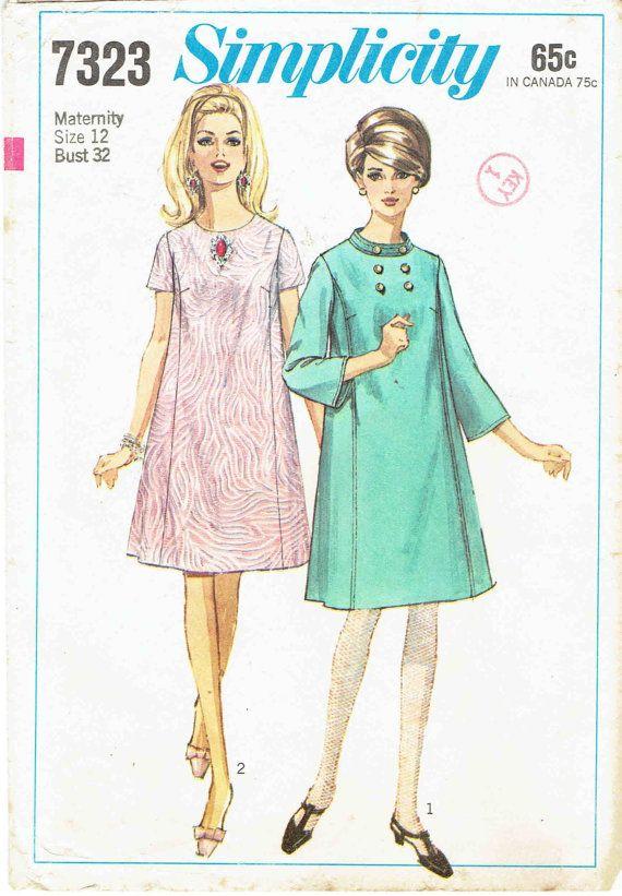 1cdbd38268cc6 60s Maternity Dress Pattern Simplicity 7323: Tent by MiAbDryGoods ...