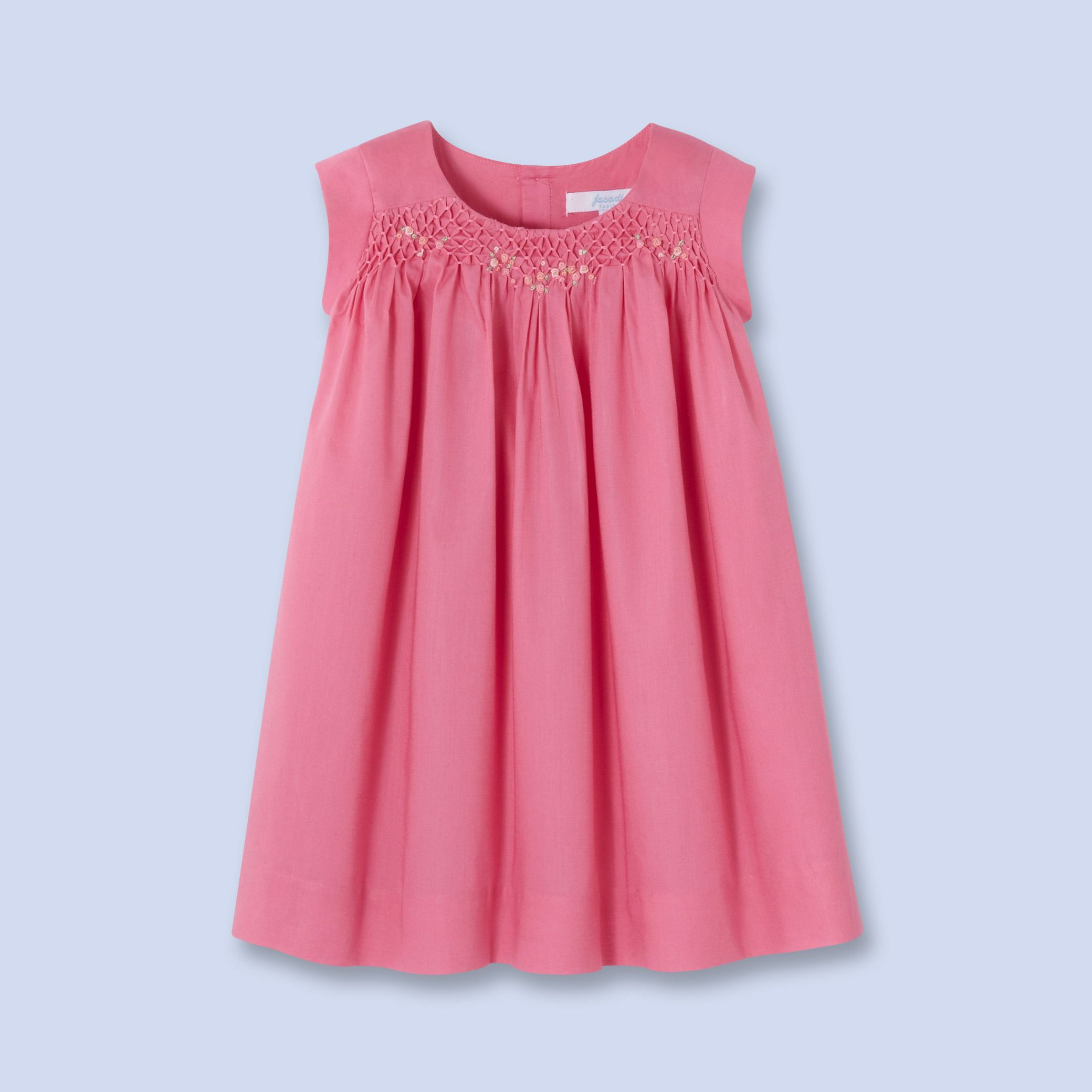 cfbf7b85af4b Hand embroidered and honeycomb smocked dress | Girls dresses | Pink ...