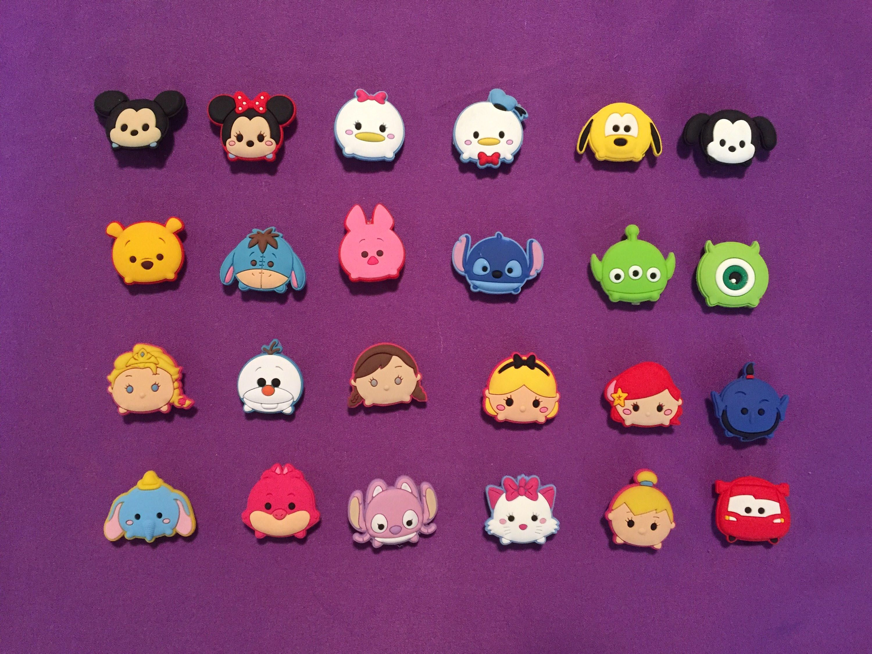 57cda1fc394 Party Favors · Belgium · 24-pc or 8-pc Disney Tsum Tsum Shoe Charms for  Crocs, Silicone