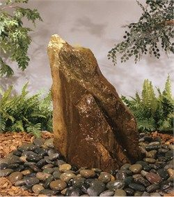The Bubbling Rock Fountain By Henri Studio Features An Underground Basin Made Of Sturdy Plastic Wh Water Features In The Garden Fountains Outdoor Rock Fountain