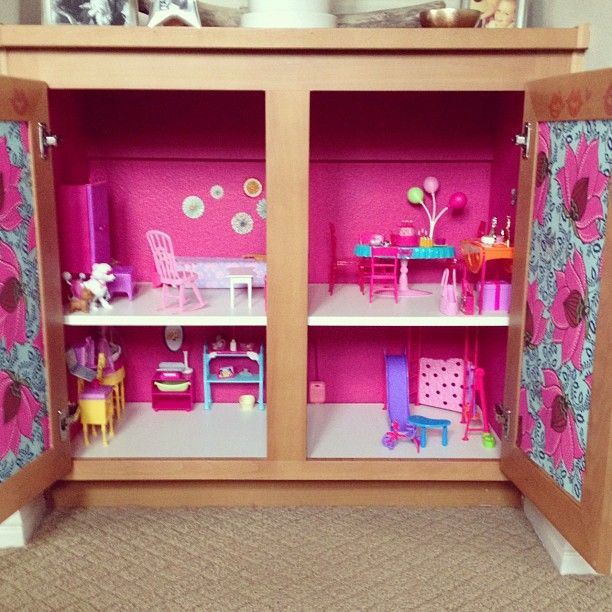 Barbie House Made Out Of Built In Hallway Bookshelf Created Made