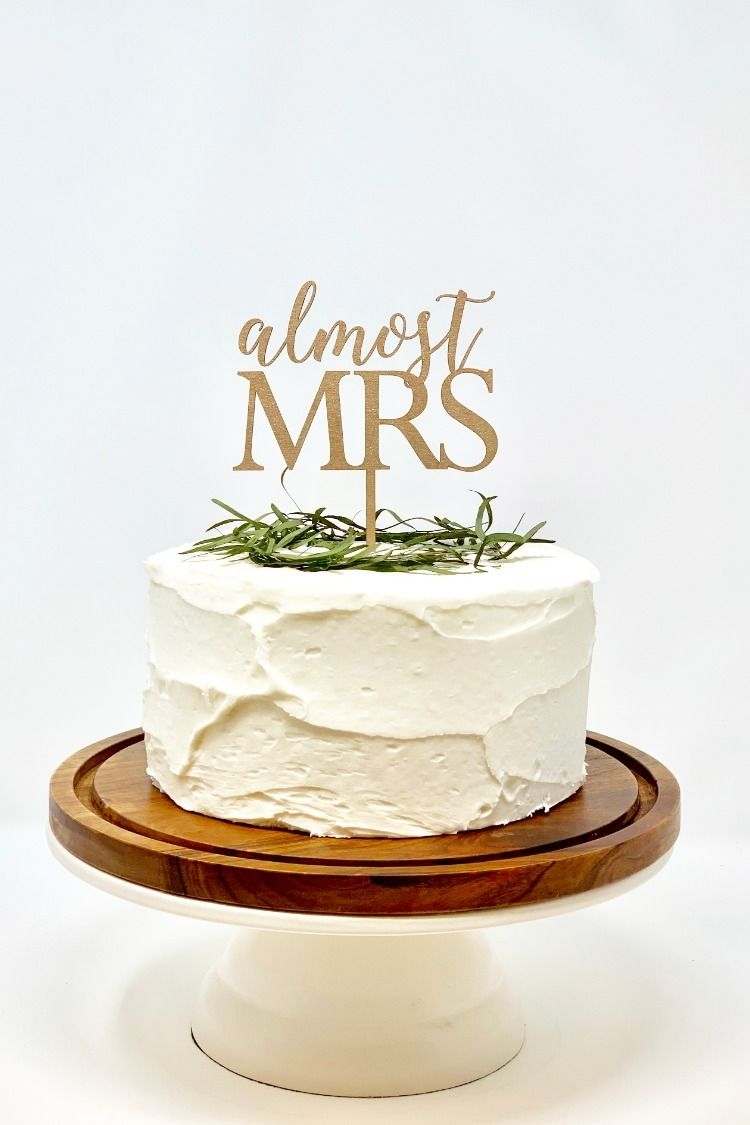 Almost Mrs Cake Topper Bridal Shower Cake Topper Calligraphy
