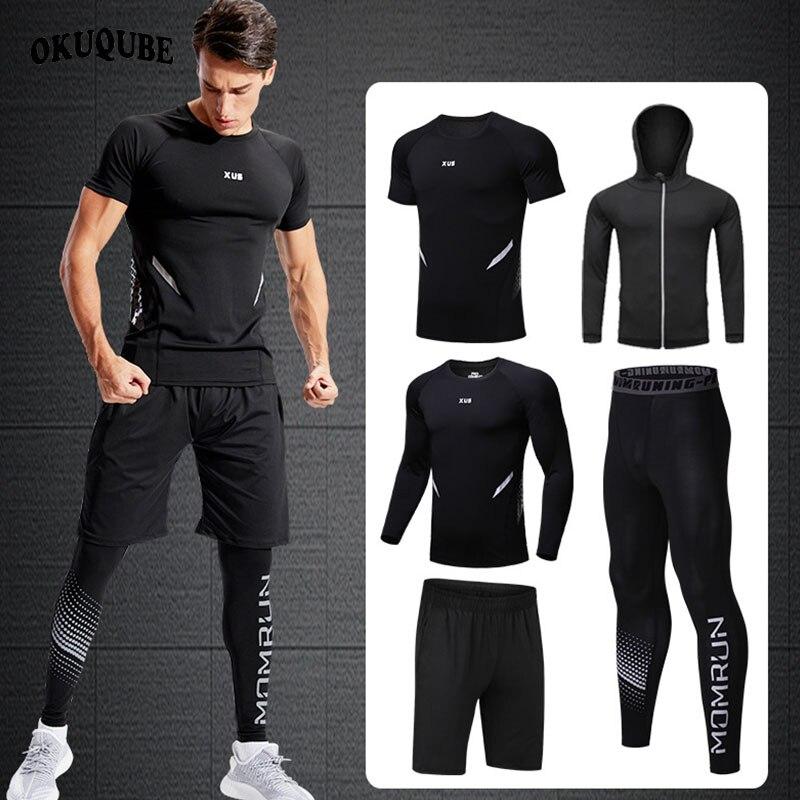 Ropa Deportiva Para Hombre Traje Deportivo De Compresion Conjuntos Transpirables Para Correr Ropa Para Corredores Deportivos Entr In 2020 Black Jeans Fashion Pants