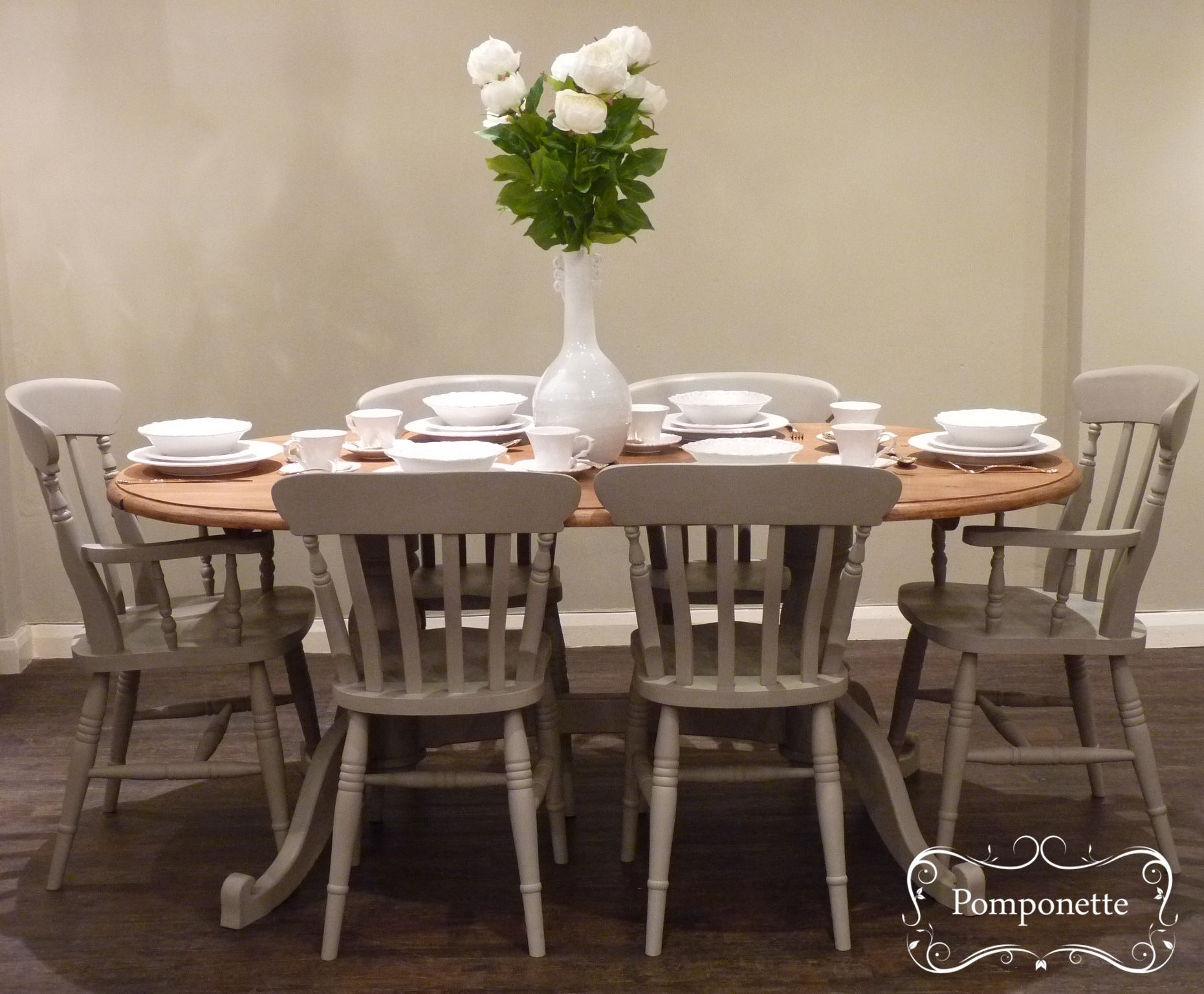 Oval Dining Table & Six Chairs. We have created a mellow mushroom ...