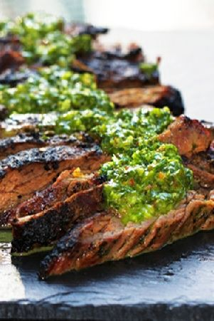 Low FODMAP and Gluten Free Recipe - Seared steak with chimichurri dressing http://www.ibssano.com/low_fodmap_recipe_steak_chimichurri_dressing.html