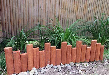 Built With Split Cedar Round Log These Rustic Log Edgings