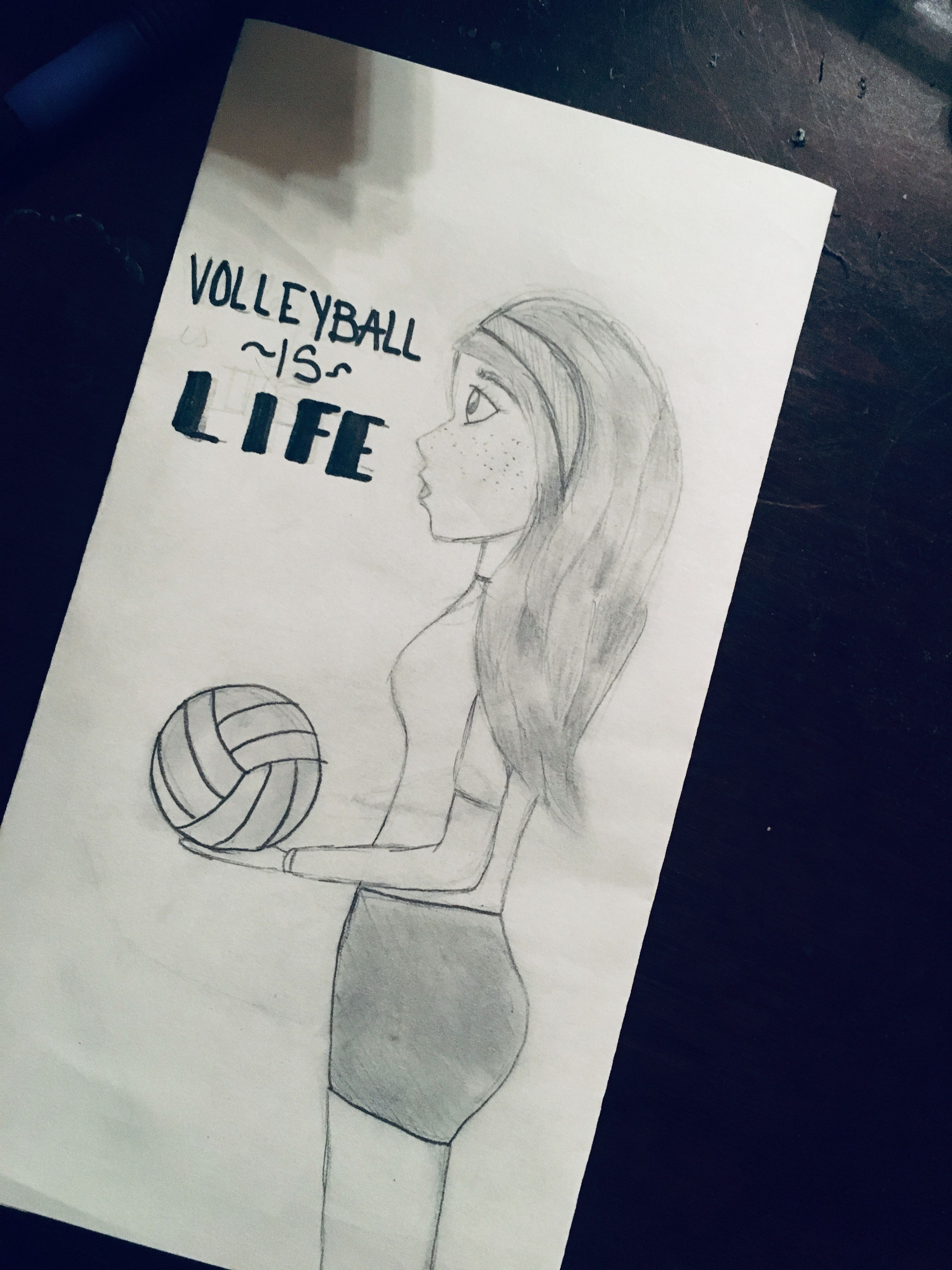 Volleyball Player Sketch Drawing Drawings Drawing Sketches Sketches