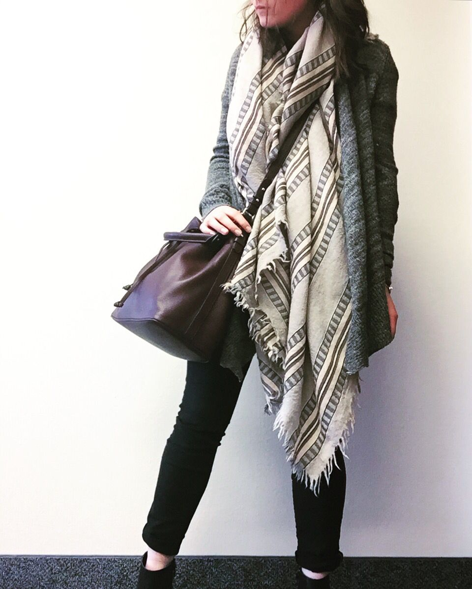 Wilfred mixed stripes blanket scarf 442a32f2f