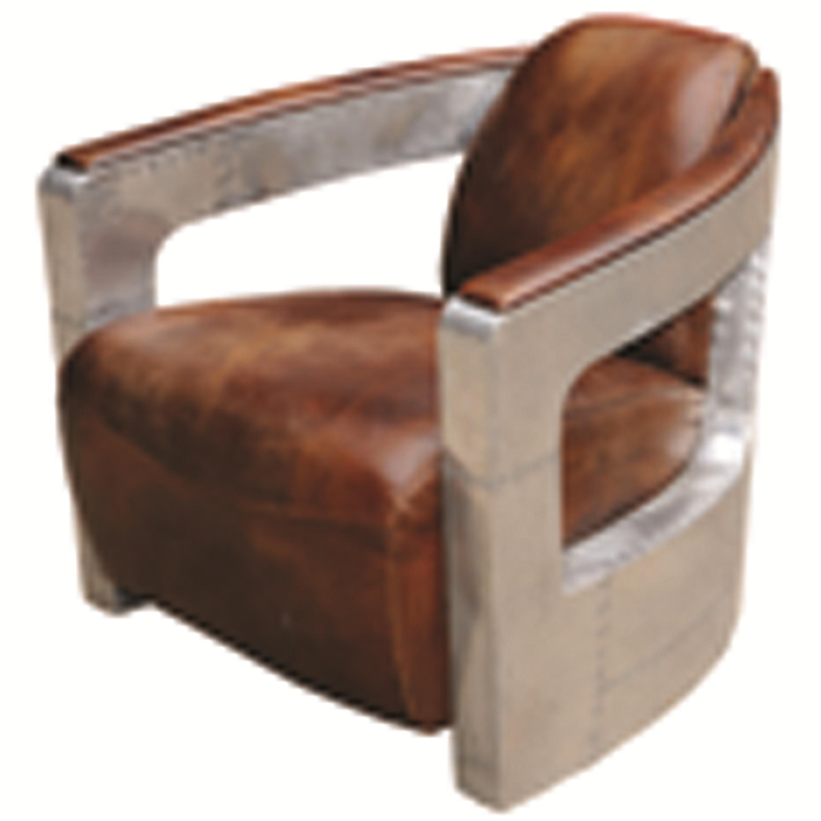Carnegie Sinclair Club Chair With Metal Arms By Four Hands