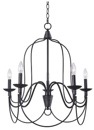 Hunter lighting wisket medium oil rubbed bronze transitional 5 light chandelier at menards