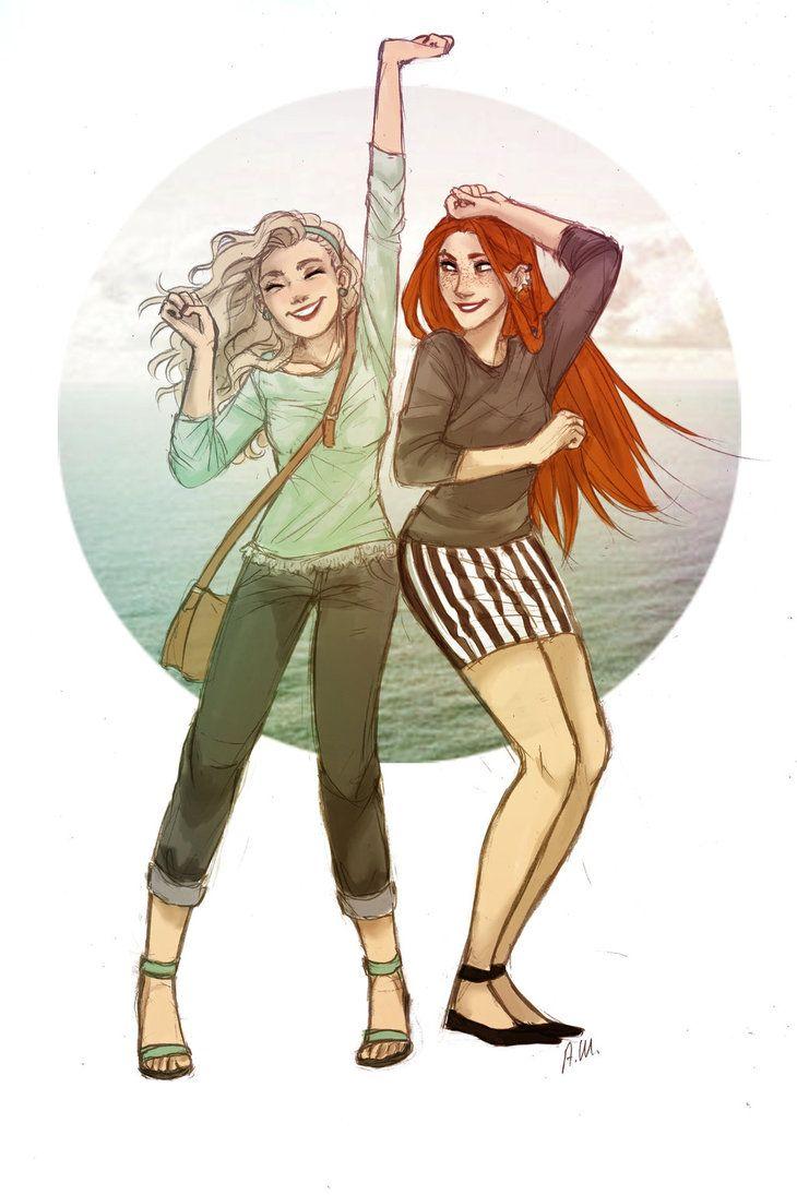 Friends by drakonarinka Luna and Ginny