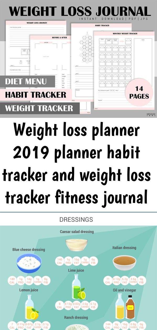 #fitness #habit #health #Journal #Loss #planne #Planner #tracker #Weight Weight loss planner 2019 Pl...