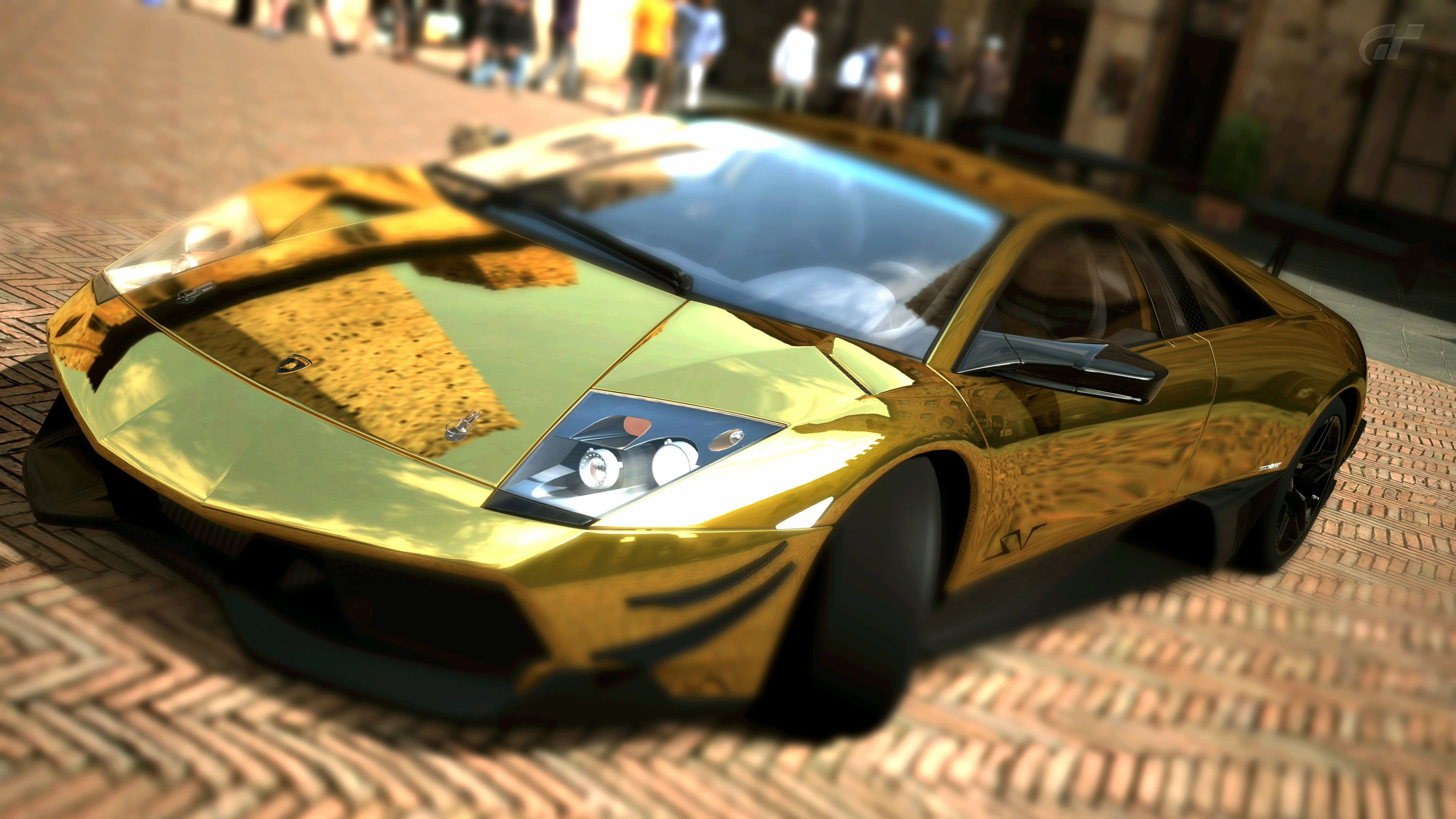 Download wallpaper Lamborghini, murcielago, LP670, SV Gold ...