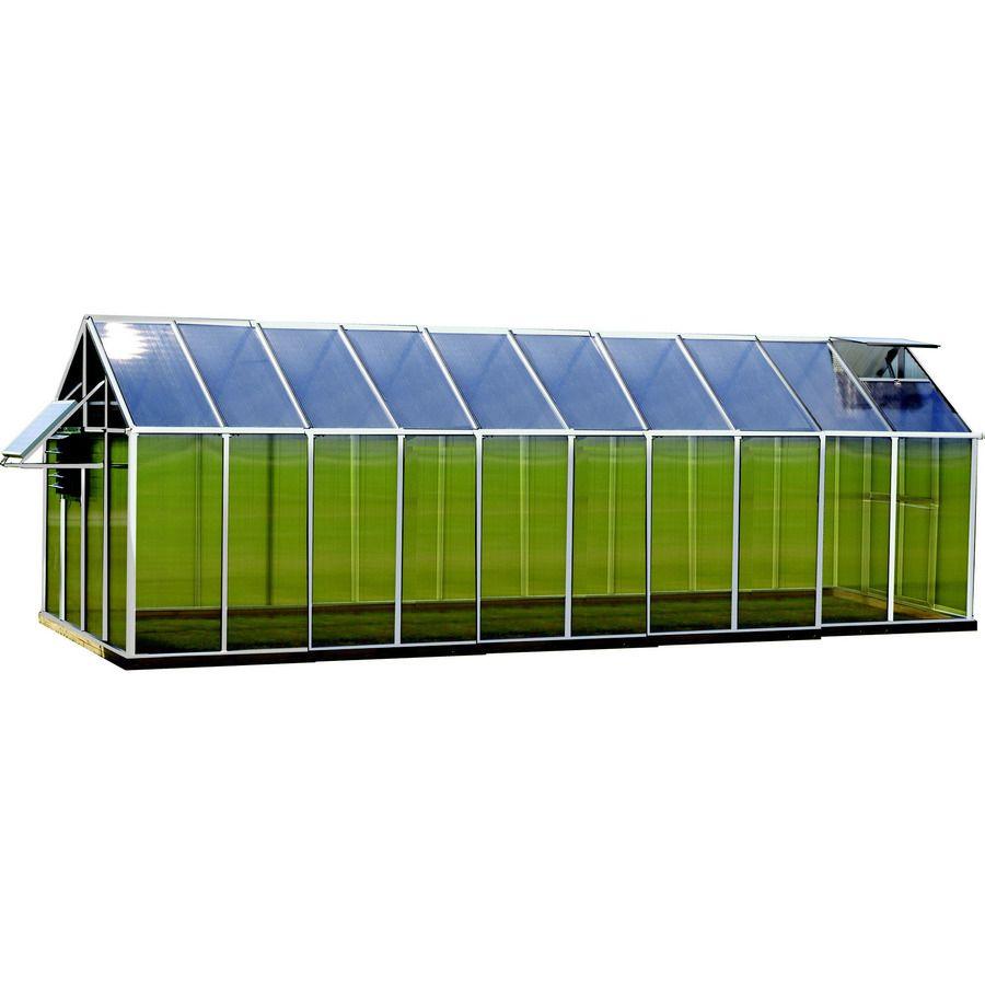 Monticello 20.4-ft L x 8.1-ft W x 7.6-ft H Metal Polycarbonate Greenhouse
