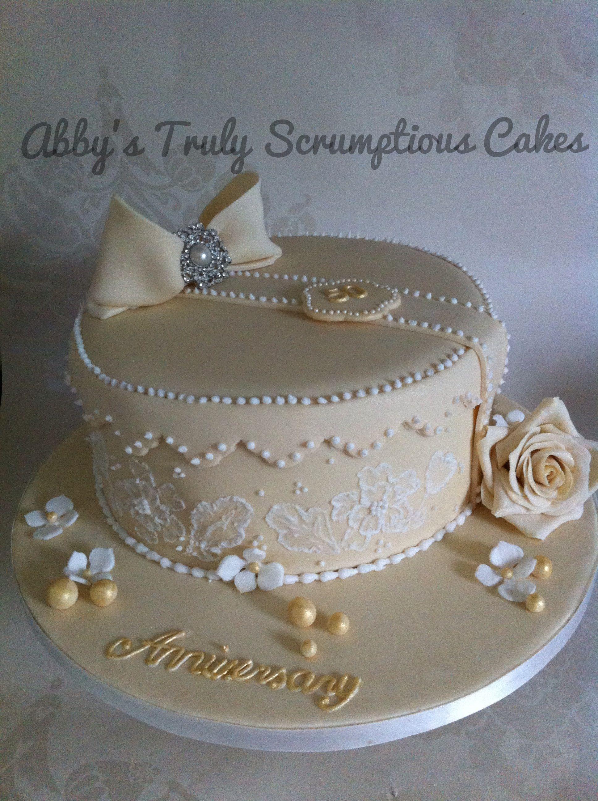 Cake Decorating Utensils Uk : Golden wedding anniversary cake - For all your cake ...