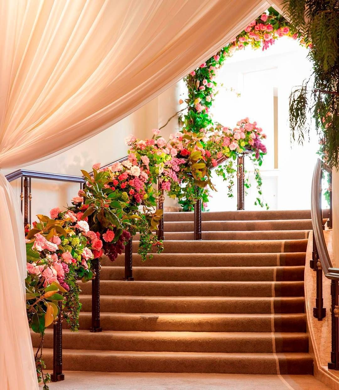Wedding decorations ghana  Stunning textures and color in this beautiful staircase Venue