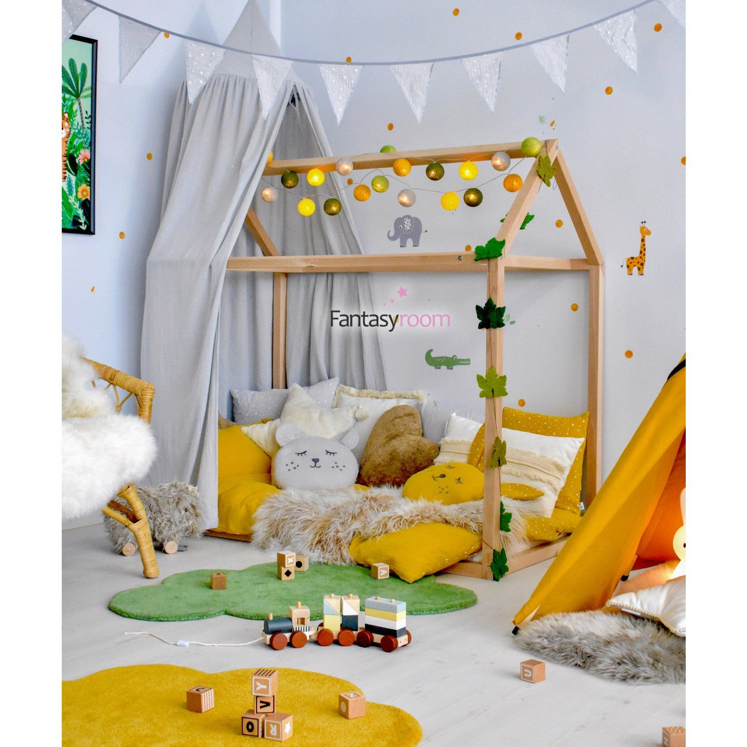 Photo of Childhome Hausbett f�r 70x140cm Matratze Buche massiv