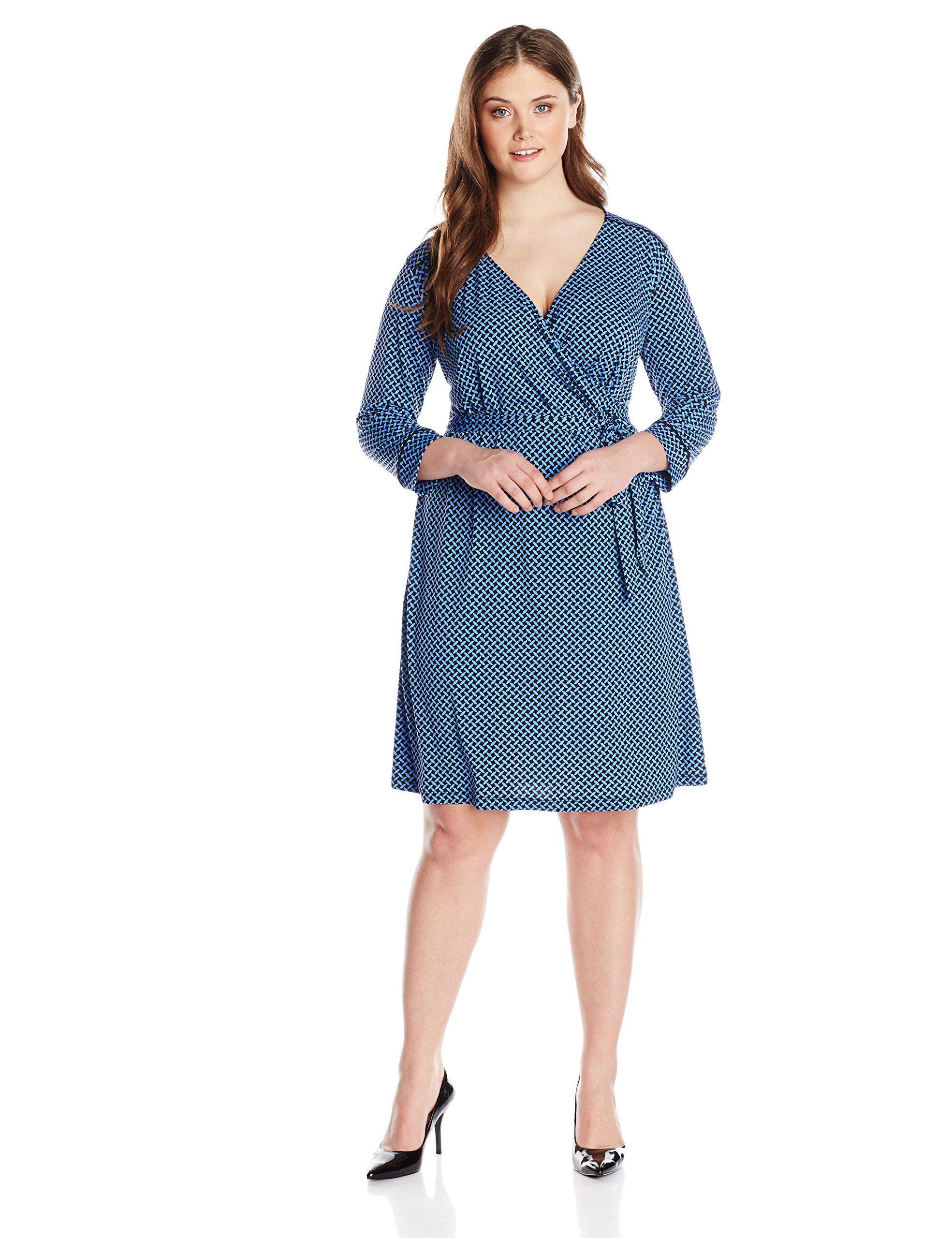 Jones New York Women S Plus Size 3 4 Sleeve Wrap Dress With Tie Belt At Amazon Women S Clothing Store Wrap Dress Clothes Dresses [ 2560 x 1969 Pixel ]