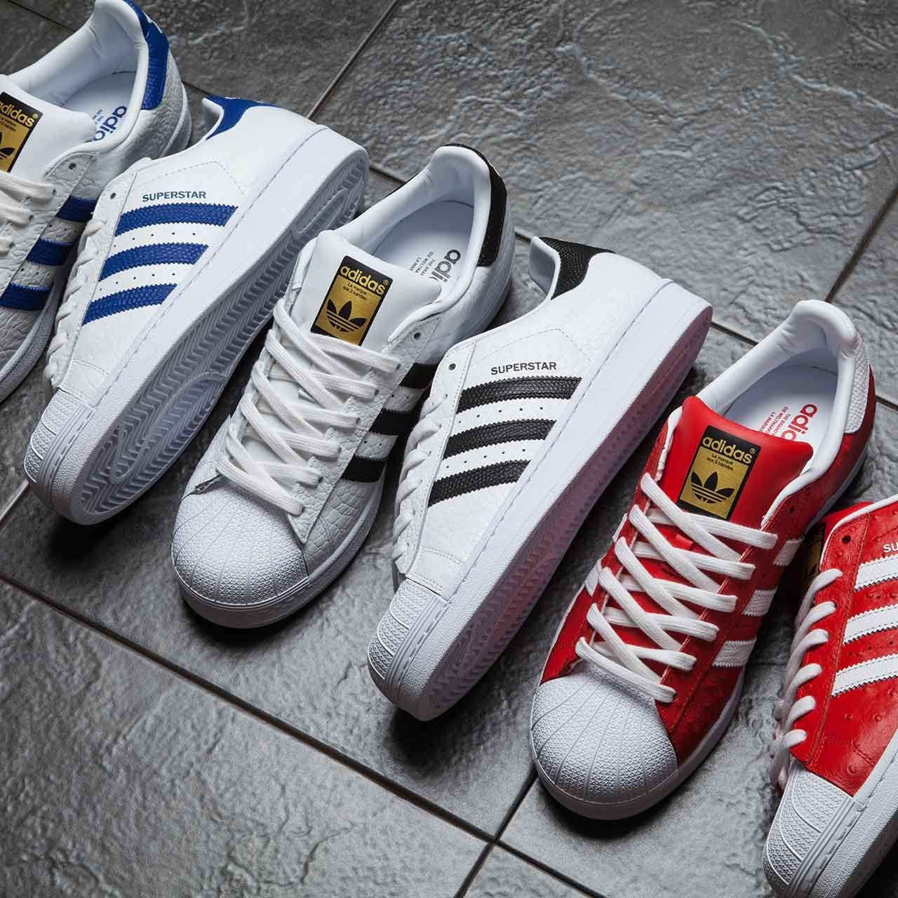 wholesale dealer 934ff fd7b8 The classic superstar with a twist! The adidas Originals Superstar Animal  Trainer.
