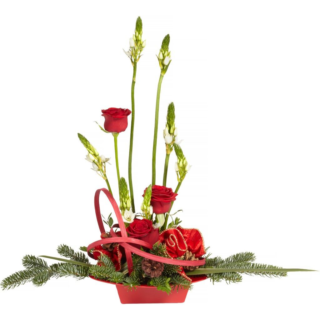 Circle Of Cheer Holiday Floral Centerpiece