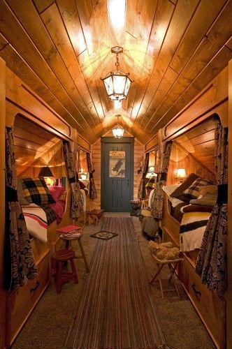 Built In Beds in Hallway eclectic bedroom